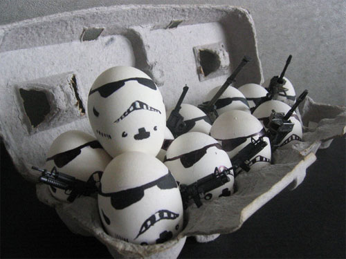 معرض مضحك رسم وجوه تعبيرية على البيض Egg13