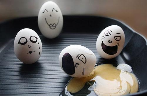 معرض مضحك رسم وجوه تعبيرية على البيض Egg15