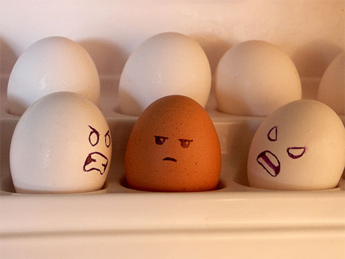 معرض مضحك رسم وجوه تعبيرية على البيض Egg16