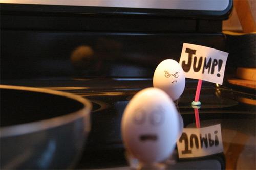 معرض مضحك رسم وجوه تعبيرية على البيض Egg19