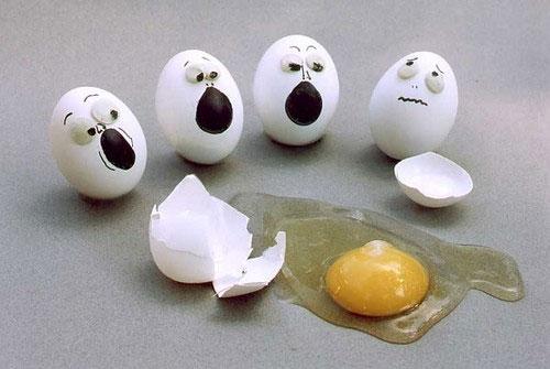 معرض مضحك رسم وجوه تعبيرية على البيض Egg2