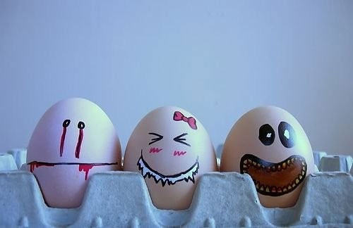 معرض مضحك رسم وجوه تعبيرية على البيض Egg5