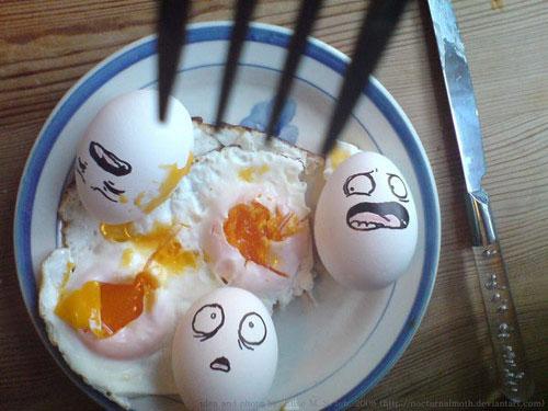 معرض مضحك رسم وجوه تعبيرية على البيض Egg6
