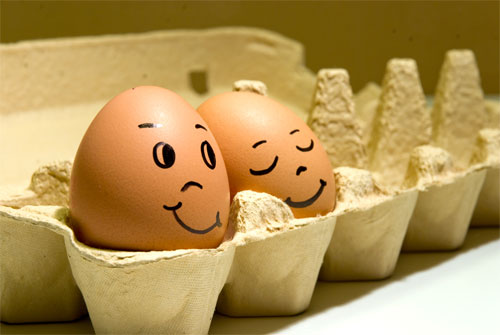معرض مضحك رسم وجوه تعبيرية على البيض Egg8